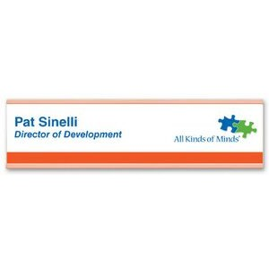 "Full Color Nameplate w/Aluminum Holder - Wall (2""x8"")"