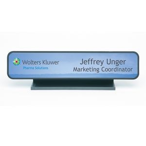 "Full Color Nameplate w/Architectural Holder - Desk (1.75""x9.125"")"