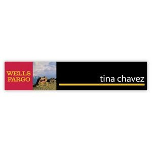 "Nameplate w/Square Corners (10""x2"") Rectangle"