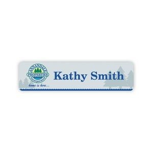 "Nameplate w/Rounded Corners (8""x2"") Rectangle"