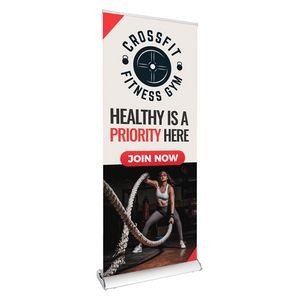 "33.5"" Wave Retractable Banner"