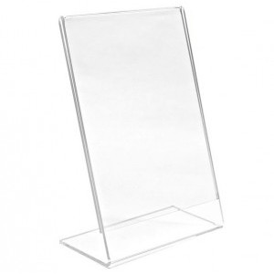 "Angled Acrylic Display Stand (8.5""x11"")"