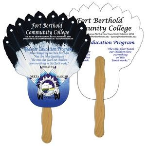 Feather Hand Fan Full Color (2 Sides)