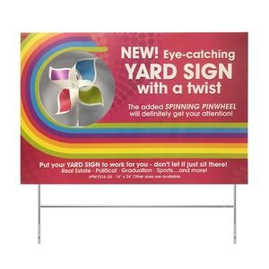 "Pinwheel Yard Sign (16""x24"")"