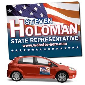 "Political Magnetic Car Sign w/ Round Corners (24""x18"")"