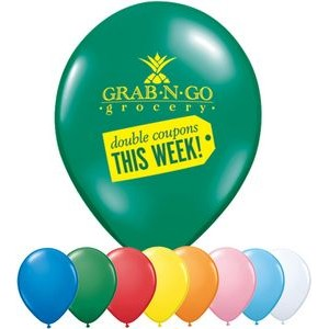 "16"" Qualatex Round Standard Color Latex Balloon"