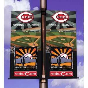 One-Sided Pole Banner 2'x5' - Vinyl