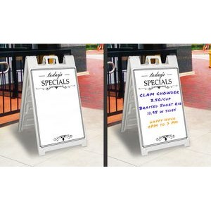Sandwich Board Display w/ 2 Sided Graphic - Dry Erase