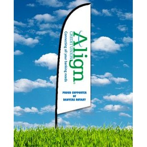 Zoom 2 Straight Flag w/ Stand - 7ft Single Sided Graphic