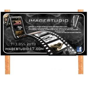 4'x8' Simple Text UV Digitally Printed Ecopanel Sign (1-Side)