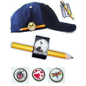 "Ultimate Golf Clip & 1"" Domed Custom Ball Marker Pencil Holder Customized"