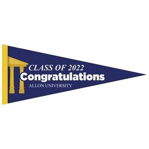 "5"" x 12"" Digitally Printed Single Sided Custom Felt Pennant"